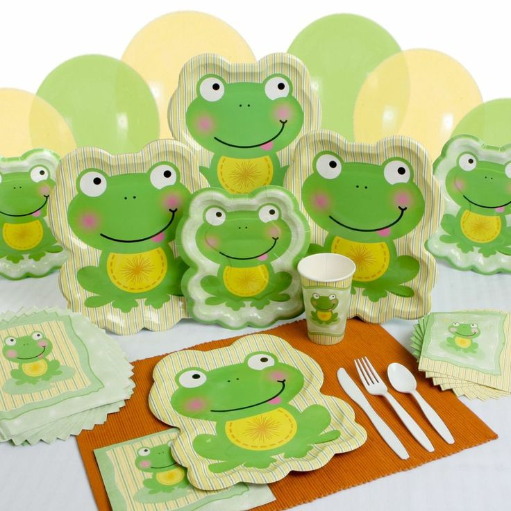 Party Supplies - Froggy Frog (Baby Shower  Birthday Party)