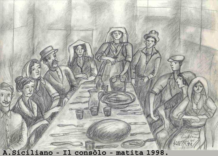 Mio disegno a matita del 1998 per la gestione del lutto - Consòlo.