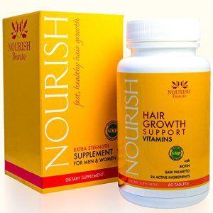 Nourrir Beauté–Nourrir cheveux croissance Vitamines avec la biotine et DHT blockers- garantie Améliorations, moins de perte et une…
