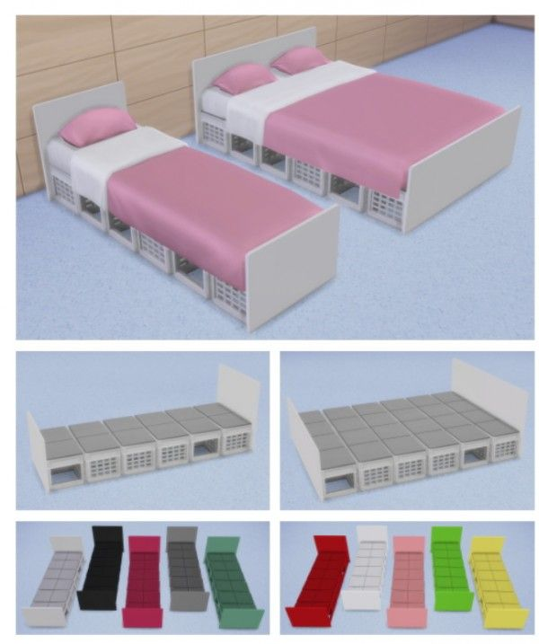 Veranka: Crates Bed Frames • Sims 4 Downloads Check more at http://sims4downloads.net/veranka-crates-bed-frames/