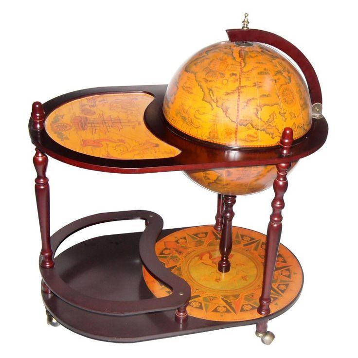 Arezzo 17.5-in. Diam. Globe Bar Trolley - MK42004R