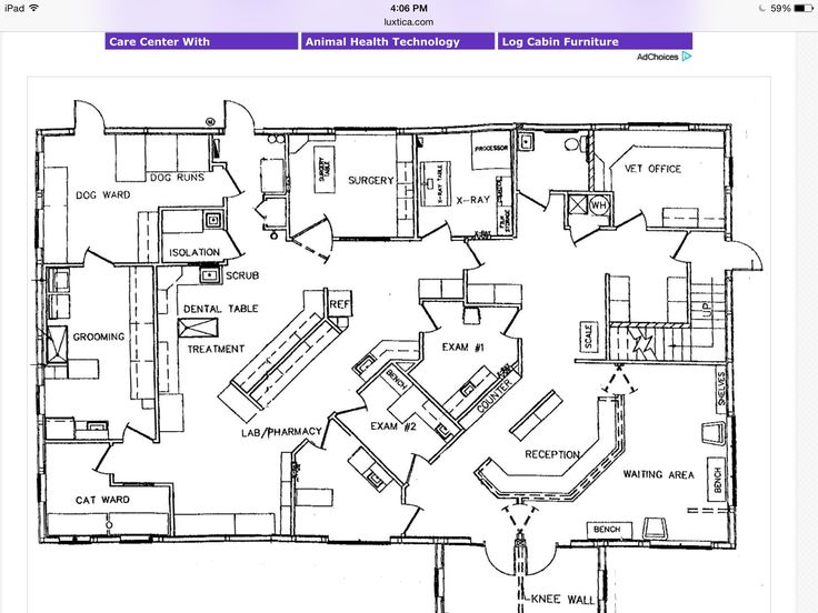 Veterinarian Office Floor Plans