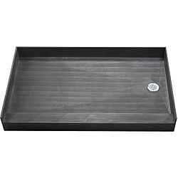 @Overstock - Finish updating your bathroom with this black tile ready shower pan. Easy to install, molded from polyurethane, and featuring a PVC drain, this shower pan makes for a hassle-free home improvement project that is easy to maintain and clean.http://www.overstock.com/Home-Garden/Tile-Ready-Shower-Pan-30-x-60-Right-PVC-Drain/6284198/product.html?CID=214117 $590.00