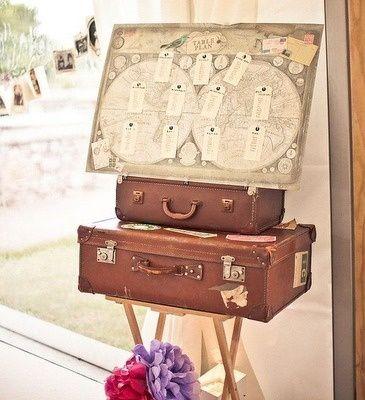 plan de table thème voyages - Organiser un mariage