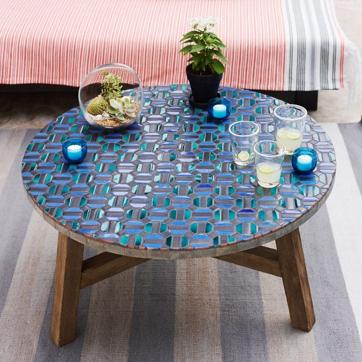 Mosaic Tiled Coffee Table - Indigo | west elm
