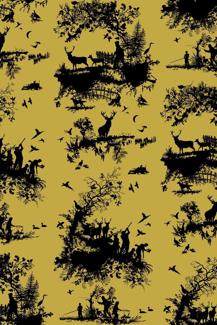 Timorous Beasties - Hunting Toile available at walnut wallpaper #wallpaper