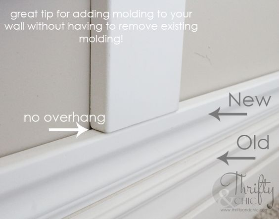 how to build up existing baseboards