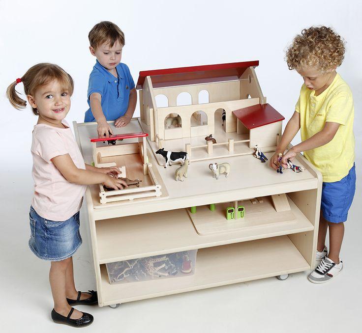 Grande table avec rebords pour viter la chute des jouets - Les grandes tables de la friche ...