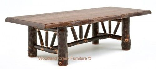 Natural Hickory Log Coffee Table