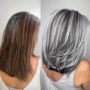 Hair Styles Colors By Lori Maguire In 2020 Gray Hair