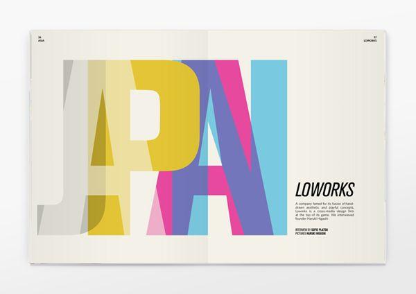 layered type, Six Pockets Magazine
