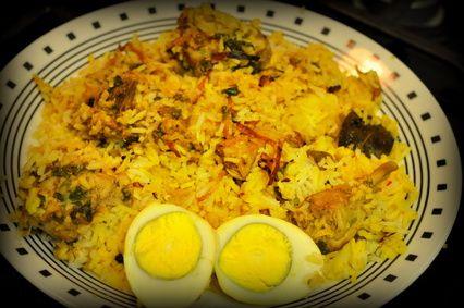 Chicken Biryani (Kacchi Biryani) Recipe from BonGong.com   Bengali Food