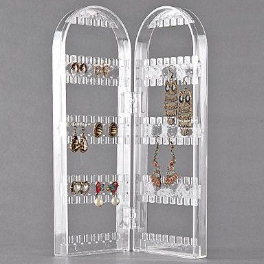EUR € 19.18 - 120 отверстий 2 арки прозрачный пластик ювелирные изделия дисплей для сережек, Бесплатная доставка на все электронные новинки!