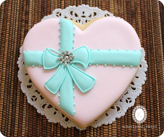 Pink Heart Cookies  Mother's Day Gift   by katiesomethingsweet, $60.00