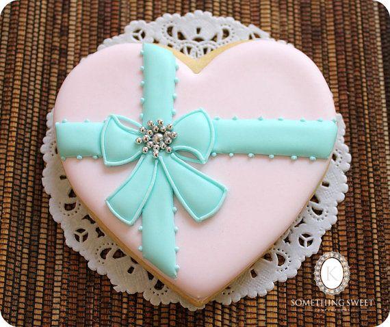 Pink Heart Cookies  Mother's Day Gift   by katiesomethingsweet, $60.00