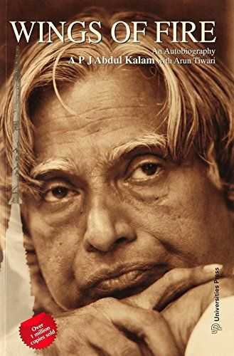 Wings of Fire: An Autobiography by A.P.J. Abdul Kalam http://www.amazon.in/dp/8173711461/ref=cm_sw_r_pi_dp_Wgj3vb0C1GXY3