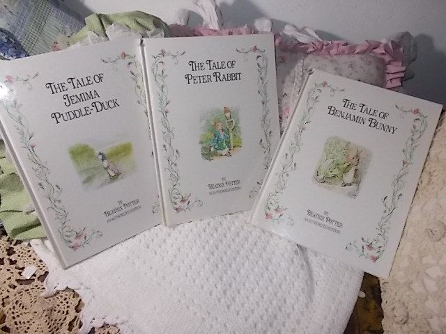 Beatrix Potter Books Sets of Three 1992, Peter Rabbit, Benjamin Bunny, Jemima Puddle Duck, /Vintage Children's Books,Tale of Beatrix Potter, by Daysgonebytreasures on Etsy