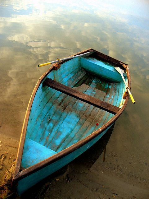.drifting....Water, Old Boats, Company Picnics, Blue, Summer Picnics, Wooden Boats, Colors, Sailing Away, Canoes
