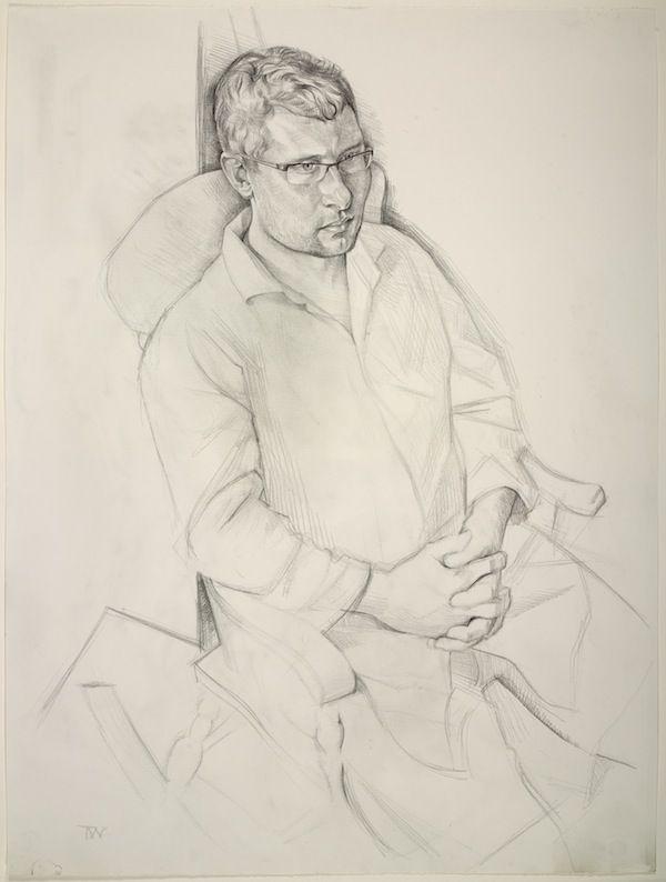 Toby Wiggins 'Matt Baldwin' - portrait drawing pencil on paper