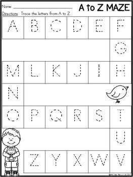 This Preschool Morning Work pack is great for your pre-k students. They will trace, write, count, and color! Use for morning work, center time, or even homework.