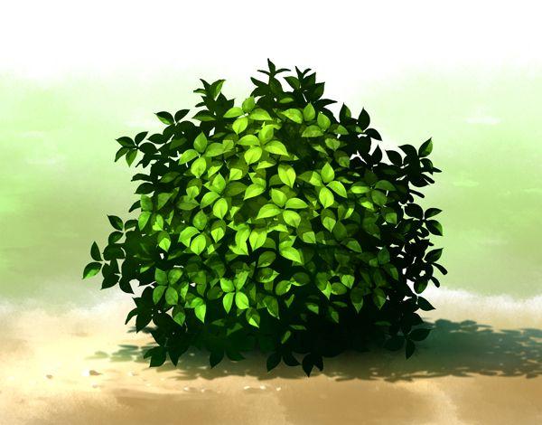 密集した葉の描き方   絵師ノート