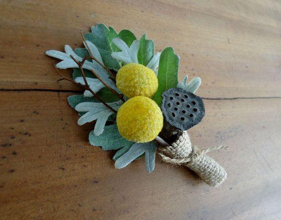 boutonniere: Floral Ideas, Boutonnieres Kelsie, Ball Boutonnieres, Wedding, Brooches Ideas, Flower Ideas, Boutonniere Idea, Non Flower Boutonnieres