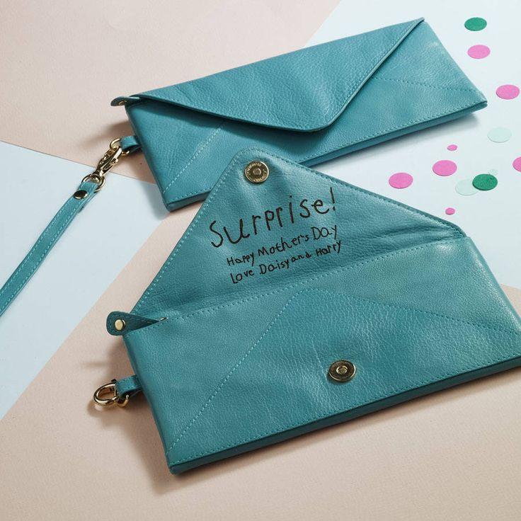 love letter envelope leather clutch by nv london calcutta | notonthehighstreet.com