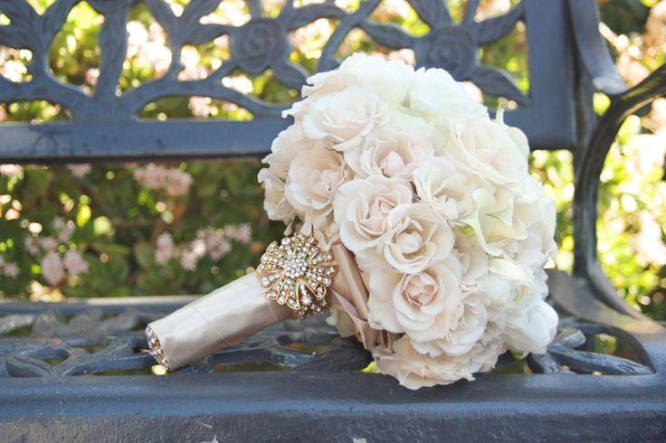 Vintage Rose Wedding Bouquet