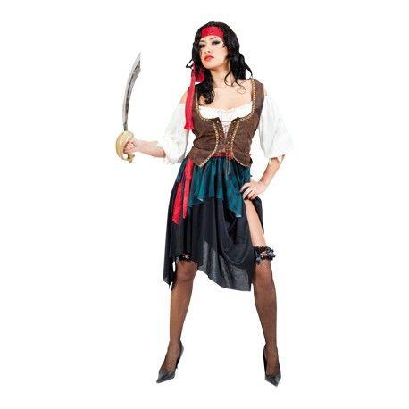Bevaar de wereldzeeën in dit sexy piraten kostuum. Steel vecht en vaar als sexy piraat. Met dit piraten kostuum voor vrouwen kun jij je rustig laten zien op elk piratenfeest. Dit sexy piraten kostuum bestaat uit een jurk, riem en een hoofdband.