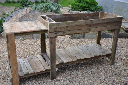 Meuble de jardinage en bois de récup (palettes) - tout fait maison entretien de la maison cuisine cosmétiques potager légumes plantes médicinales
