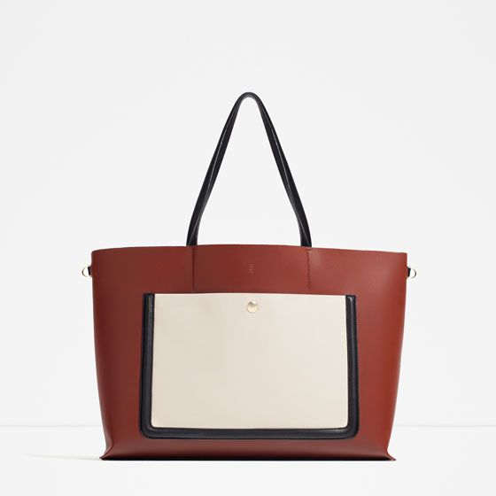 Image 1 of TOTE WITH POCKET from Zara