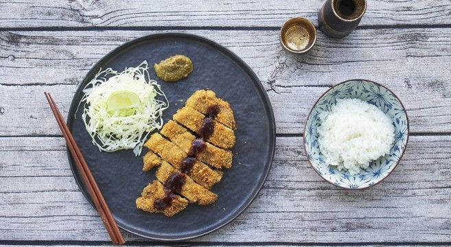 Tonkatsu - Japanese wienerschnitzel kind of dish...