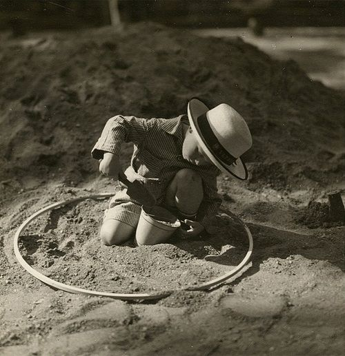 "Josef Sudek, ""Child playing in the sand"", circa 1927"