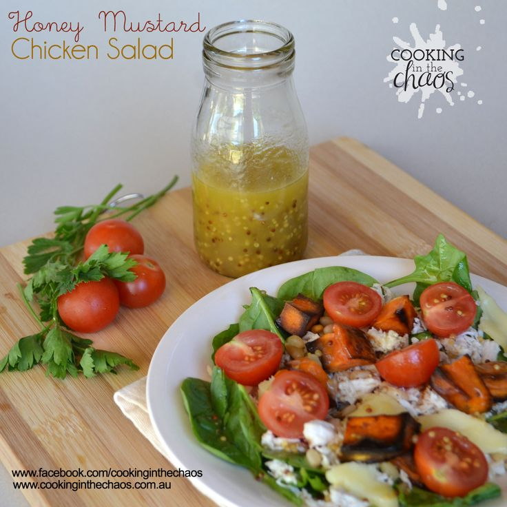 Honey Mustard Chicken Salad - Thermomix Recipe - Cooking in the Chaos