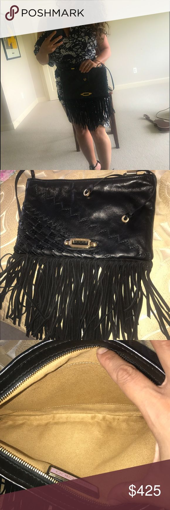 Jimmy choo leather clutch bag purse shoulder top Jimmy choo lamb/snakeskin leather clutch with strap ❤️❤️ softest leather ever!!!  ❤️ used about 6-7 times .. . Some scratches on hardware but very good condition overall ❤️❤️ perfect for your favorite makeup, cellphone and favorite accessories ❤️❤️ no dustbag or authenticity cards but 100 percent authentic guaranteed.. I barely use it anymore..this beauty deserves to be enjoyed ❤️:) paid $950 4-5 years ago ❤️ no trades❤️❤️ Jimmy Choo Bags…