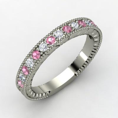 The Victoria Band  #tourmaline #diamond  #ring