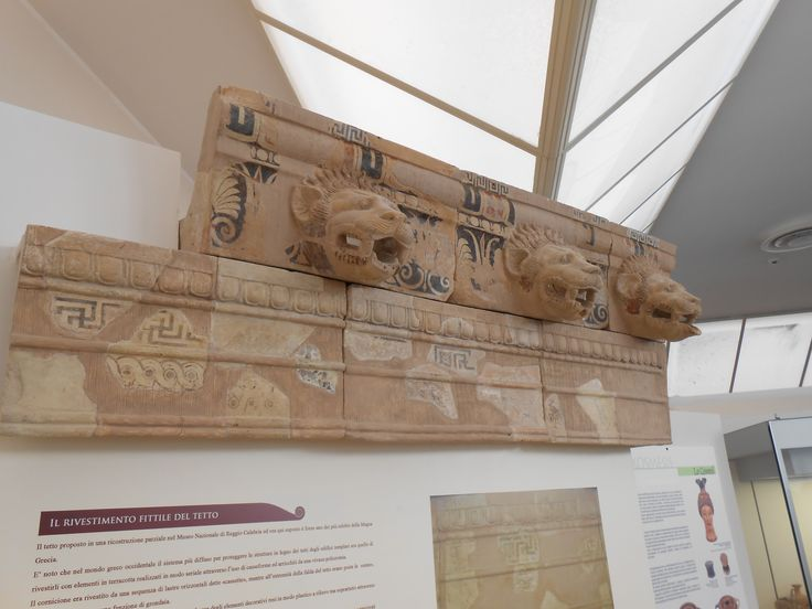 Elemento fissile tetto, Museo Parco archeologico di Kaulon, Monasterace, Calabria