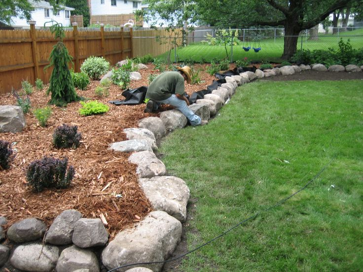 Fieldstone Boulder Wall & Planting Bed