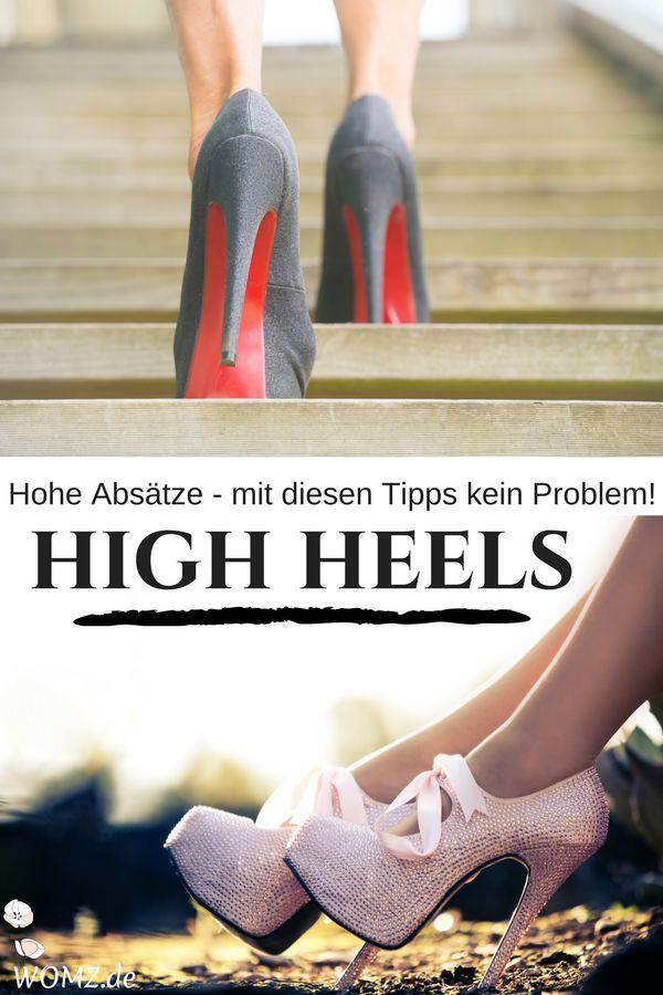 Gerade für Anfänger ist es nicht so einfach auf High Heels zu laufen. Doch keine Sorge, mit ein paar einfachen Tipps und Tricks sind hohe Absätze auch für dich kein Problem.  #highheels #laufen #tricks #tipps