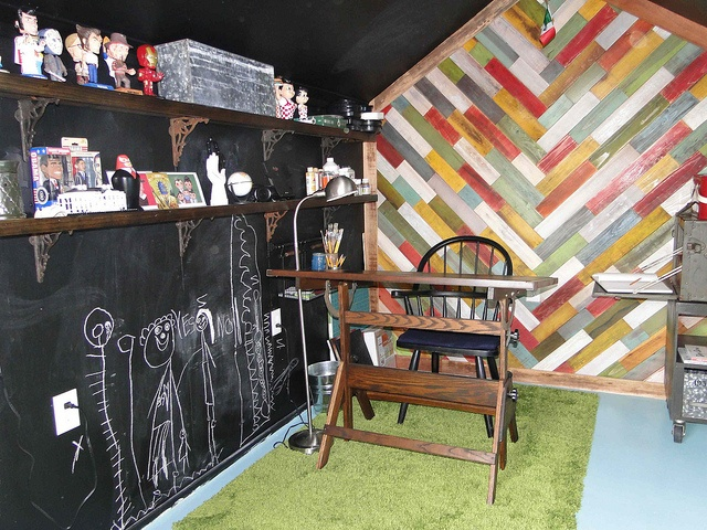 Garden Shed Converted Into My Art Studio The Chalk Painted Walls Are For Kids