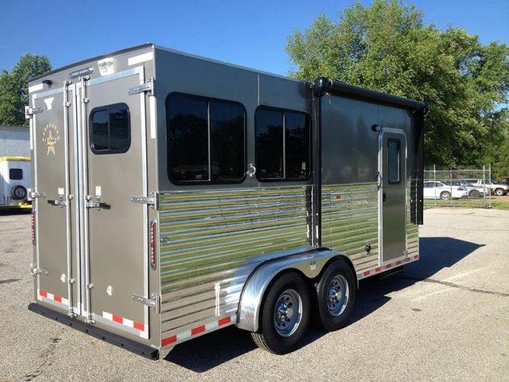 Dixie Star 5' Bumper Pull Living Quarters Horse Trailers