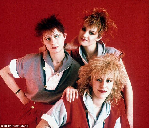 Flash back: Siobhan Fahey - who left the girl group in 1988 - will join fellow bandmates Sarah Dallin and Keren Woodward for the reunion
