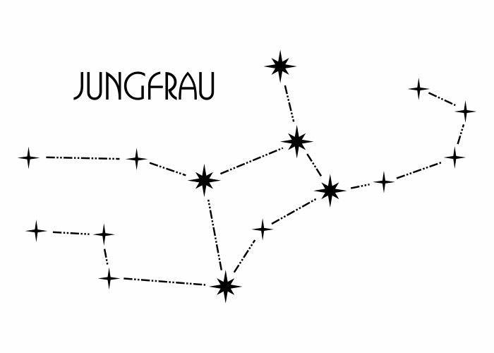 Wandtattoo - Sternbild - Jungfrau
