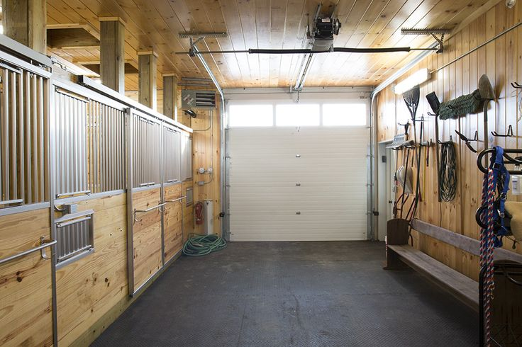 Morton Buildings Horse Barn Interior In Whiting Vermont