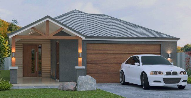 Zero Lot House Plan Ranch Style Narrow Lot Narrow Lot House Cottage Style House Plans House Plans