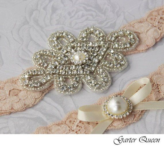 Vintage Wedding Garters | Bridal Garter Wedding Garter Set Stretch Lace Keepsake and Toss ...