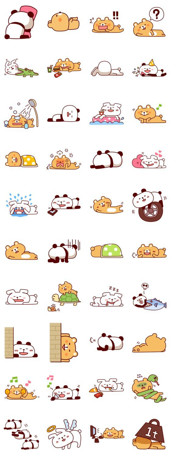 cute line stickers - Google Search