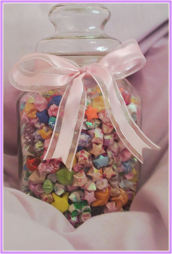 Being given a jar of lucky stars. (It's a Chinese belief that making and giving 1000 origami stars to someone will grant that person a wish)