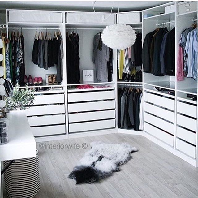 """2,398 Likes, 40 Comments - Home Sweet Home © (@pretty__home) on Instagram: """"Dressing n'y @interiorwife -Dressing Pax Ikea -"""""""