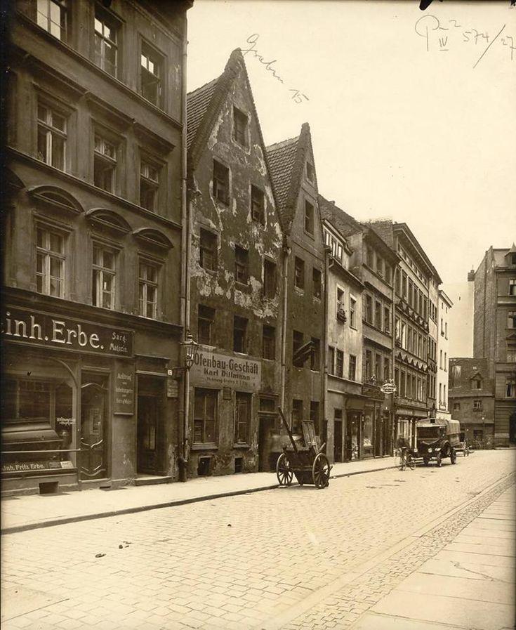 Wrocław Stare Miasto - Zaułek Niski (1927)